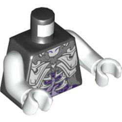 LEGO part 973pr5733c01 MINI UPPER PART, NO. 5733 in Black