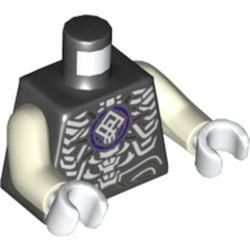 LEGO part 973pr5734c01 MINI UPPER PART, NO. 5734 in Black