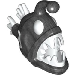 LEGO part 67471pat0002 Animal, Anglerfish with Pearl Dark Gray Body Pattern in White
