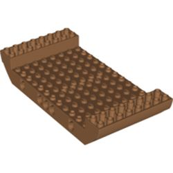 LEGO part 95227 Boat Hull Section, Large Middle 8 x 16 x 2 1/3 with 5 Holes in Medium Nougat