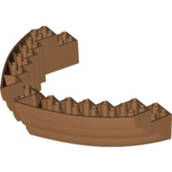 LEGO part 64645 Boat Hull Section, Brick 16 x 10 x 3 in Medium Nougat