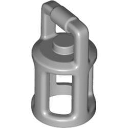 LEGO part 37776 Equipment Lantern in Medium Stone Grey/ Light Bluish Gray