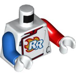 LEGO part 973e107pr5744 MINI UPPER PART, NO. 5744 in White
