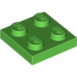 LEGO part 3022 Plate 2 x 2 in Bright Green