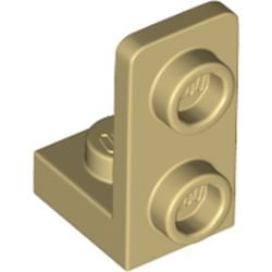 LEGO part 73825 Bracket 1 x 1 - 1 x 2 Inverted in Brick Yellow/ Tan