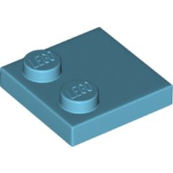 LEGO part 33909 Plate Special 2 x 2 with Only 2 studs in Medium Azure