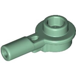 LEGO part 32828 Plate Round 1 x 1 with Hollow Stud and Horizontal Bar 1L in Sand Green