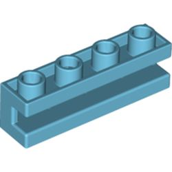 LEGO part 2653 Brick Special 1 x 4 with Groove in Medium Azure