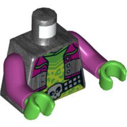 LEGO part 973c37h06pr5748 MINI UPPER PART, NO. 5748 in Titanium Metallic/ Pearl Dark Gray
