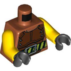 LEGO part 973c01h03pr5747 MINI UPPER PART, NO. 5747 in Dark Orange
