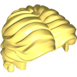 LEGO part 26139 Minifig Hair Short Wavy with Center Part in Cool Yellow/ Bright Light Yellow