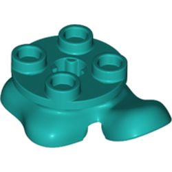 LEGO part 79750 Feet, 2 x 2 x 2/3, Front Left Foot Forward with 4 Studs on Top in Bright Bluish Green/ Dark Turquoise