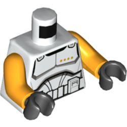 LEGO part 973c34h03pr5763 MINI UPPER PART, NO. 5763 in White