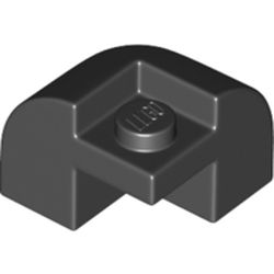 LEGO part 67810 Brick Curved 2 x 2 x 1 1/3 with Curved Top - Corner in Black