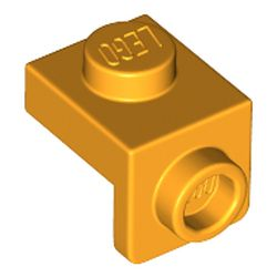 LEGO part 36841 Bracket 1 x 1 - 1 x 1 in Flame Yellowish Orange/ Bright Light Orange