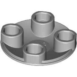 LEGO part 79804 SLIDE SHOE ROUND 2X2, NO. 22 in Medium Stone Grey/ Light Bluish Gray