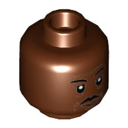 LEGO part 3626cpr9769 Minifig Head in Reddish Brown