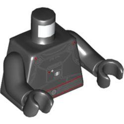 LEGO part 973c03h03pr5767 MINI UPPER PART, NO. 5767 in Black