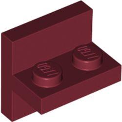 LEGO part 41682 Bracket 2 x 2 with 1 x 2 Vertical Studs in Dark Red