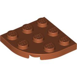 LEGO part 30357 Plate Round Corner 3 x 3 in Dark Orange