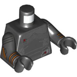 LEGO part 973c03h03pr5774 MINI UPPER PART, NO. 5774 in Black