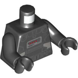 LEGO part 973c03h03pr5775 MINI UPPER PART, NO. 5775 in Black