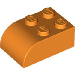 LEGO part 6215 Brick Curved 2 x 3 with Curved Top in Bright Orange/ Orange