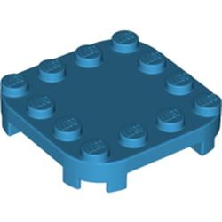 LEGO part 66792 Plate Round Corners 4 x 4 x 2/3 Circle with Reduced Knobs in Dark Azure