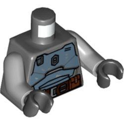 LEGO part 973c14h03pr5778 MINI UPPER PART, NO. 5778 in Dark Stone Grey / Dark Bluish Gray