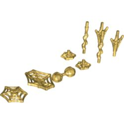 LEGO part 36083 Web Effect Accessories [Complete Set] in Warm Gold/ Pearl Gold