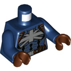 LEGO part 973c05h19pr5780 MINI UPPER PART, NO. 5780 in Earth Blue/ Dark Blue