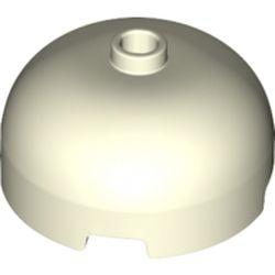 LEGO part 49308 Brick Round 3 x 3 Dome with Center Stud in Glow in Dark White