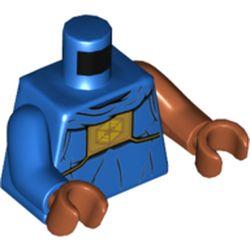 LEGO part 973e105pr5784 MINI UPPER PART, NO. 5784 in Bright Blue/ Blue