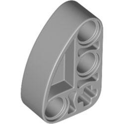 LEGO part 71708 Technic Beam 2 x 3 L-Shape with Quarter Ellipse Thick in Medium Stone Grey/ Light Bluish Gray