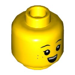 LEGO part 3626cpr3561 MINI HEAD, NO. 3561 in Bright Yellow/ Yellow