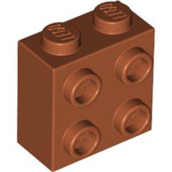LEGO part 22885 Brick Special 1 x 2 x 1 2/3 with Four Studs on One Side in Dark Orange