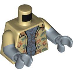 LEGO part 973g26c24h24pr5786 MINI UPPER PART, NO. 5786 in Brick Yellow/ Tan