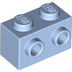 LEGO part 11211 Brick Special 1 x 2 with Studs on 1 Side in Light Royal Blue/ Bright Light Blue