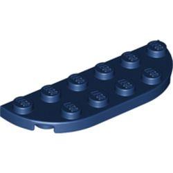 LEGO part 18980 Plate Round Corner 2 x 6 Double in Earth Blue/ Dark Blue