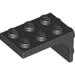 LEGO part 69906 Bracket 2 x 3 - 2 x 2, Curved Sides in Black