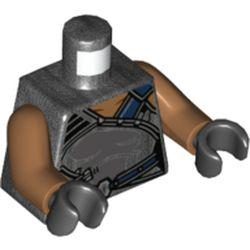 LEGO part 973c23h03pr5783 MINI UPPER PART, NO. 5783 in Titanium Metallic/ Pearl Dark Gray