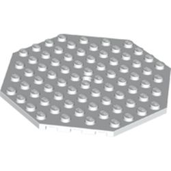 LEGO part 89523 Plate Special 10 x 10 Octagonal with Hole in White