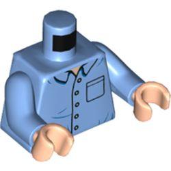 LEGO part 973c32h02pr5791 MINI UPPER PART, NO. 5791 in Medium Blue