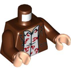LEGO part 973c19h02pr5792 MINI UPPER PART, NO. 5792 in Reddish Brown