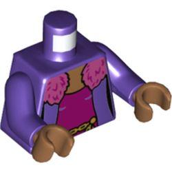 LEGO part 973c09h23pr5794 MINI UPPER PART, NO. 5794 in Medium Lilac/ Dark Purple