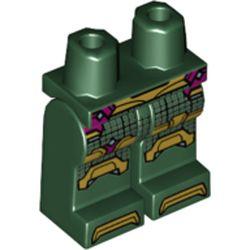 LEGO part 970c00pr2161 MINI LOWER PART, NO. 2161 in Earth Green/ Dark Green