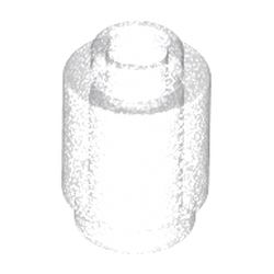 LEGO part 3062b Brick Round 1 x 1 Open Stud in Transparent with Opalescence/ Satin Trans-Clear