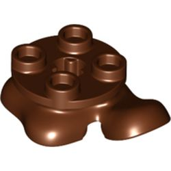 LEGO part 79750 Feet, 2 x 2 x 2/3, Front Left Foot Forward with 4 Studs on Top in Reddish Brown