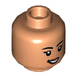 LEGO part 3626cpr3575 MINI HEAD, NO. 3575 in Nougat