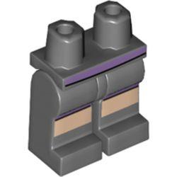 LEGO part 970c00pr2156 MINI LOWER PART, NO. 2156 in Dark Stone Grey / Dark Bluish Gray